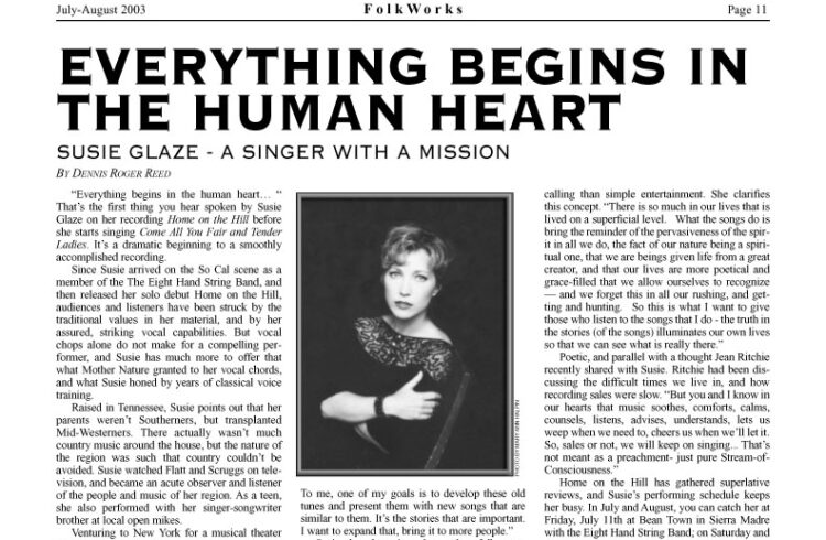 """Everything Begins in the Human Heart"" Feature Article from FolkWorks"