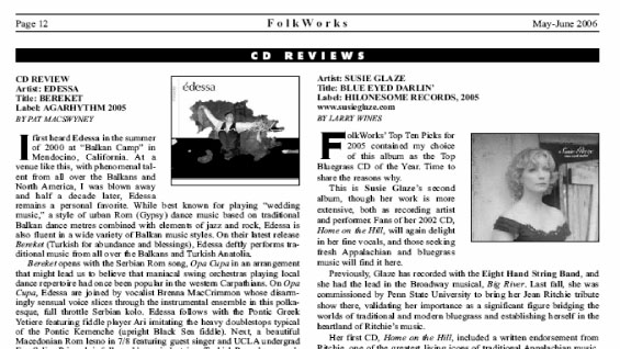 Larry Wines' Review of Blue Eyed Darlin'
